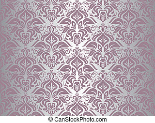 cor-de-rosa, papel parede, prata, fundo, &