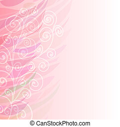 cor-de-rosa, puro, padrão, abstratos, fundo, floral, esquerda