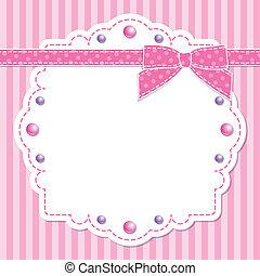 cor-de-rosa, quadro, arco