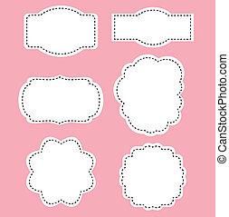 cor-de-rosa, romance, branca, etiquetas, fundo