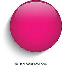 cor-de-rosa, vidro, círculo, botão, ícone