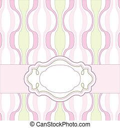 cor-de-rosa, vindima, cartão