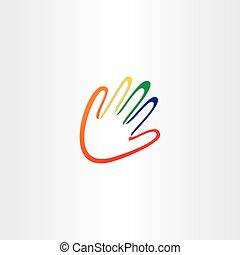 cor, dedos, mão humana
