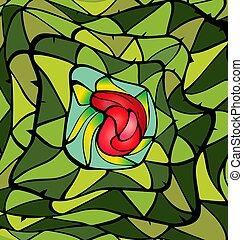 cor experiência, rosa, abstratos, imagem, verde vermelho