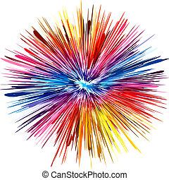 cor, explosão