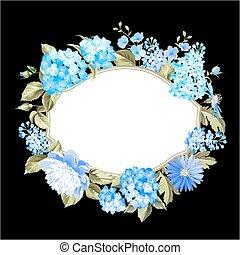 cor, flowers., guirlanda