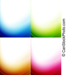 cor, fundos, onda