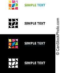 cor, logotipo, templates., tile.
