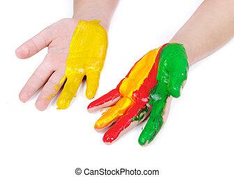 cor, mão