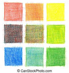 cor, mistura, fundo, lápis
