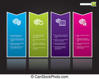 cor, modelo, dado forma, desenho, site web, etiquetas, seta