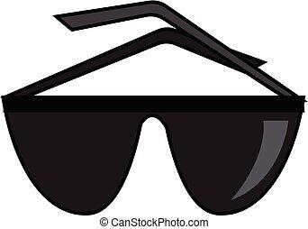 cor, pretas, vetorial, óculos, illustration.