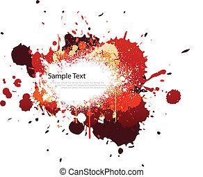 cor, respingo, tom, vermelho