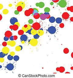 cor, splatter, gota, tinta