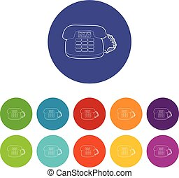 cor, telefone, vetorial, jogo, ícones