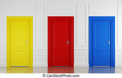 cor, três, portas