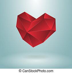 coração, conceito, desenho
