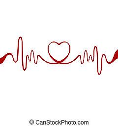 coração, fita vermelha