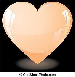 coração, pêssego