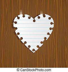 coração papel