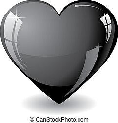 coração, pretas