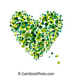 coração, projeto abstrato, forma, seu