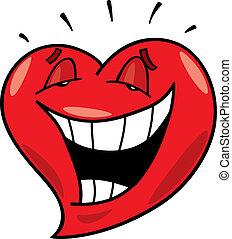 coração, rir