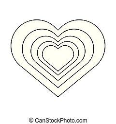 coração, romanticos, caricatura