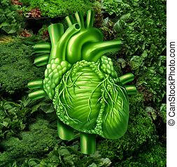 coração saudável, dieta