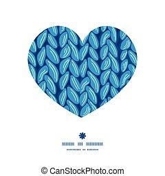 coração, silueta, padrão tecido, quadro, textura, vetorial, sewater, horizontais, tricote