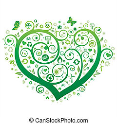 coração, verde