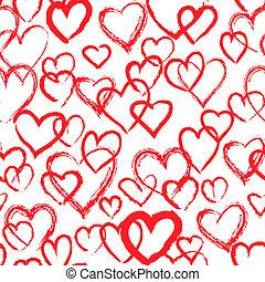 corações, pattern., seamless