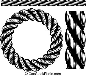 corda, elementos, desenho