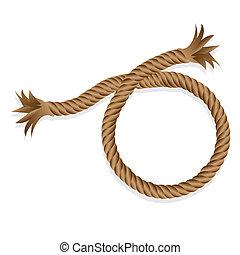 corda, isolado, trançado