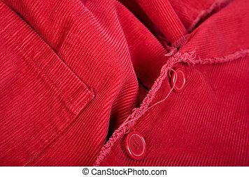 corduroy, vermelho