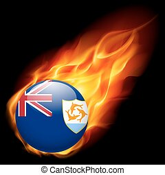 cores, bandeira, anguilla, emblema