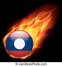 cores, bandeira, emblema, laos