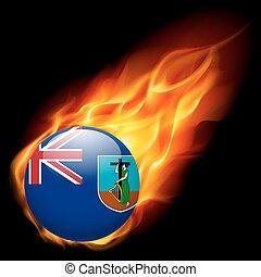 cores, bandeira, montserrat, emblema
