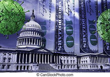 coronavirus, dinheiro, congresso eua