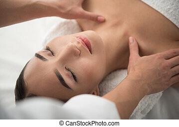 corporal, braços, femininas, esteticista, spa, massaging