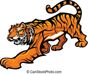 corporal, tiger, vetorial, mascote, gráfico