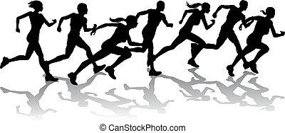 correndo, corredores