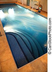 corrente, água, piscina