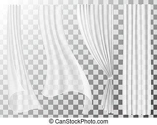 cortinas, jogo, transparente