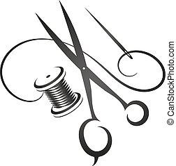 cosendo, vetorial, equipamento