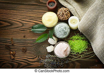 cosméticos, natural, spa