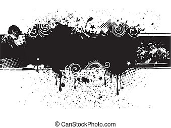 costas, tinta, illustration-grunge, vetorial