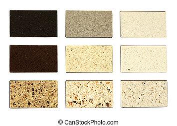countertops, cozinha, pedra, amostras