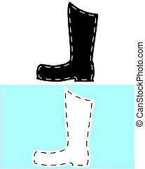 couro, botas