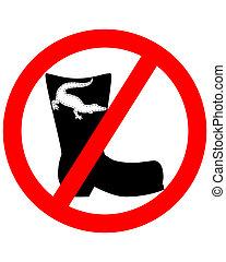 couro, crocodilo, proibido, botas